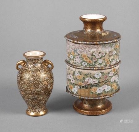 Zwei Vasen Satsuma