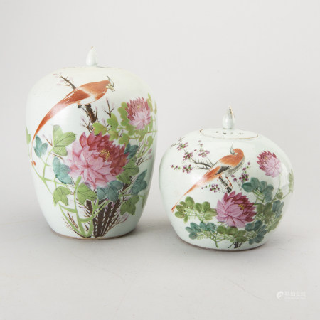 A set of two Chinese porcelain urns first half of the 20th century