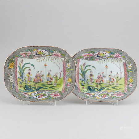 A pair of Mason's patent ironstone China serving dish, 19th century.