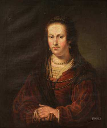 No visible signature, the portrait of a noble lady with