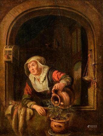 Unsigned (in the manner of Gerrit Dou), the maid