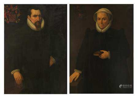 No visible signature, a fine pair of pendant portraits