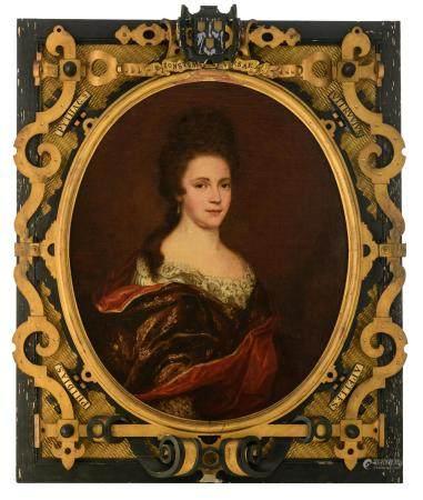 No visible signature, the medallion portrait of a lady