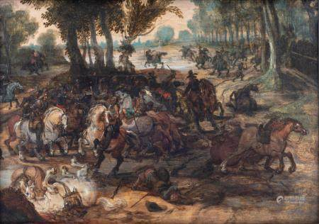 Attributed to/the circle of Vrancx S., a battle scene,