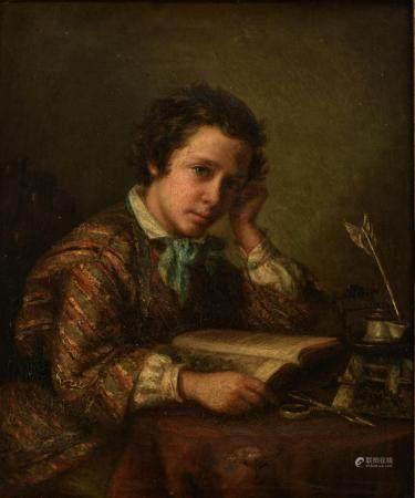 No visible signature, a young man dedicated to his