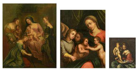 Unsigned, three religious works depicting two scenes