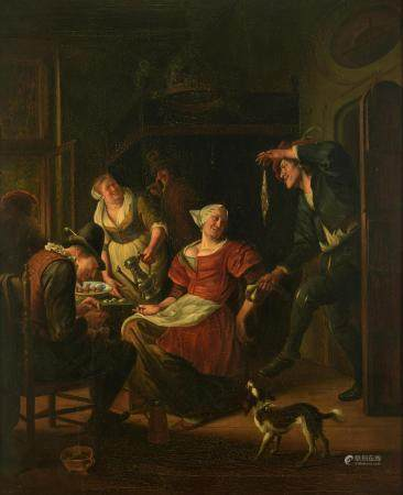 A fine copy after a famous genre painting by Jan Steen