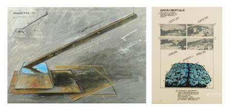 Plessi F., 'Porgetto 26', watercolour, gouache and