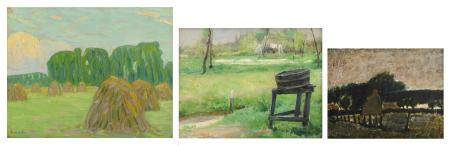 Horenbant J., the laundry tub, oil on canvas, 34 x 45