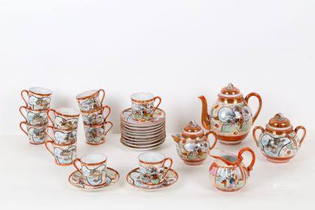 Chinese egg skin porcelain coffee service.