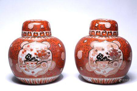 Two chinese ceramic potiches