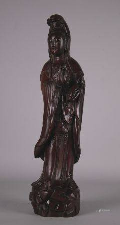 Wooden chinese Guanyn sculpture