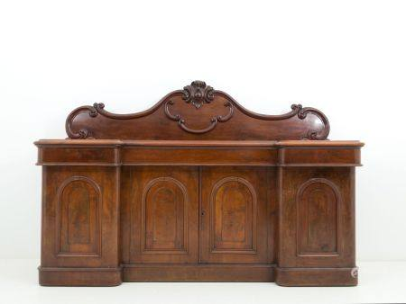 Victorian english wooden sideboard