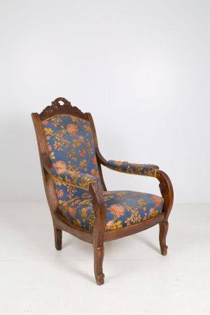 Wooden armchair. 19th century. Defects