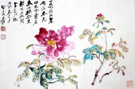 张大千 花卉