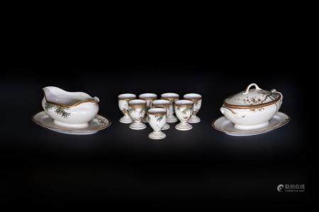Japanese Art A group of white porcelain tableware Japan, 19th century