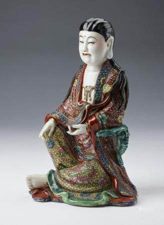 Chinese Art A porcelain seated figure China, early 20th century