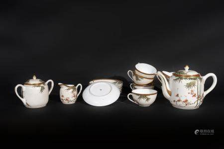 Japanese Art A white porcelain eight cover tea service Japan, 19th century