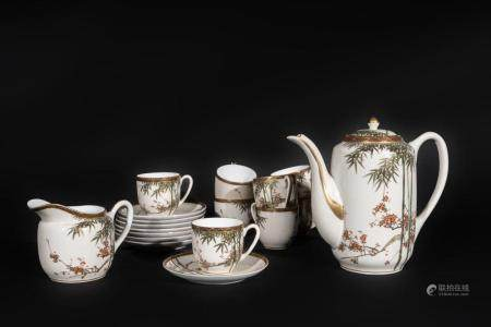 Japanese Art An eight cover white porcelain coffee service Japan, 19th century