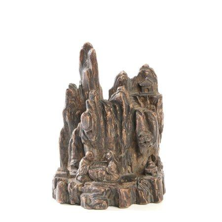"Chinese Agarwood ""Landscape And Figures"" Ornaments"