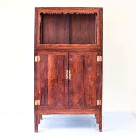 A FINE CHINESE HUANGHUALI DOUBLE DOOR CABINET
