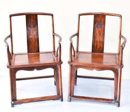 PR CHINESE HUANGHUALI SOUTHERN OFFICER HAT CHAIRS