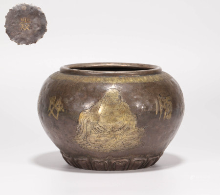 Silver and gilding buddhist bowl from Song 宋代銀鎏金佛缽