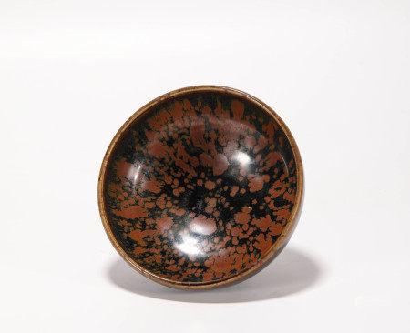 Black glazed fambe bowl from Song 宋代黑釉窯變大碗
