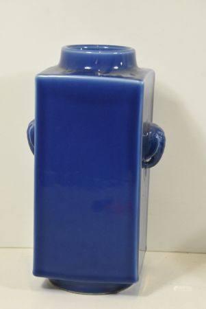 Vase en porcelaine de Chine bleu (ht30cm)