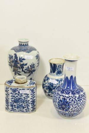 4 vase en porcelainde de Chine (10;12;16;18cm)
