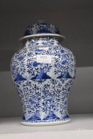 Potiche couverte en porcelaine de Chine (ht 29cm)