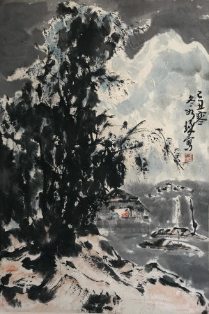 A CHINESE PAINTING SCROLL CUI RUZHUO MARK