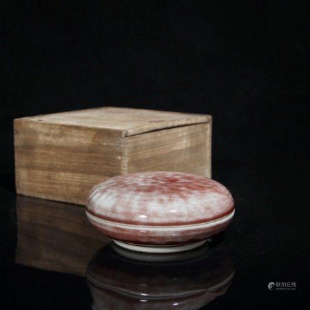 清 梵紅印盒(康熙年制四字款)