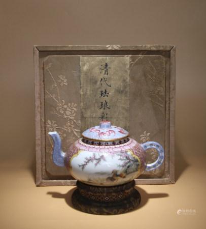 清乾隆 琺瑯彩茶壺