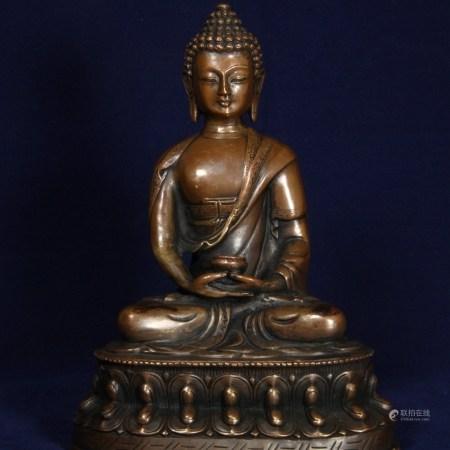 藏傳紫銅藥師像