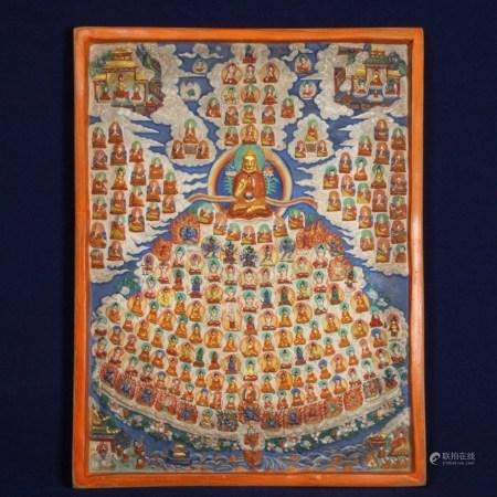 藏傳宗喀巴上師壇城擦擦