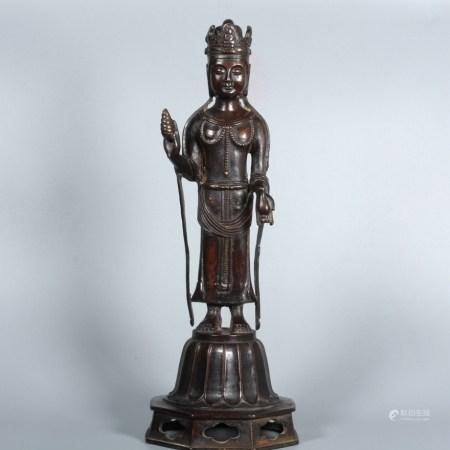 清 阿彌陀佛說法銅像