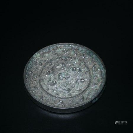 明 海獸葡萄紋銅鏡