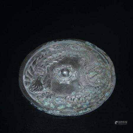 明 龍鳳紋銅鏡