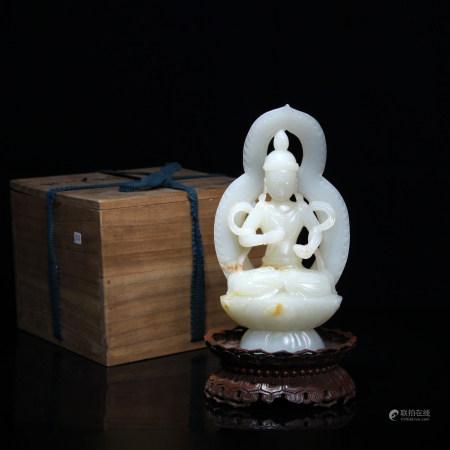 清 和田玉佛陀坐像