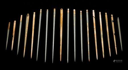 Shang Dynasty - Set of Jade Hairpins