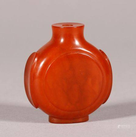 Qing Dynasty - Beeswax Snuff Bottle