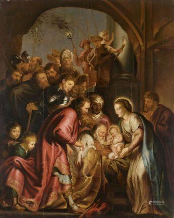 Ecole FLAMANDE du XVIIIème siècle, d'après Pierre-Paul RUBENS   - L'adoration des [...]