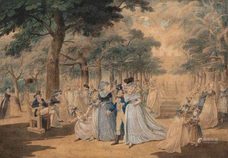Ecole FRANCAISE de la fin du XVIIIème siècle, dans le goût de Gabriel de [...]