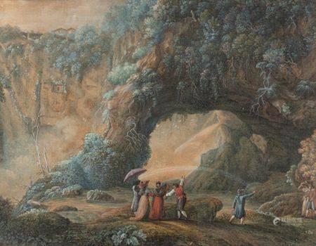 Attribué à Antonio DEL DRAGO   - (Actif à Rome à la fin du XVIIIème siècle)  - [...]