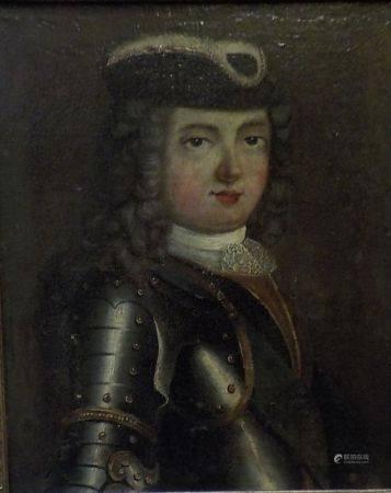 Ecole FRANCAISE du XVIIIème siècle  - Portrait présumé de Louis XV  - Toile [...]