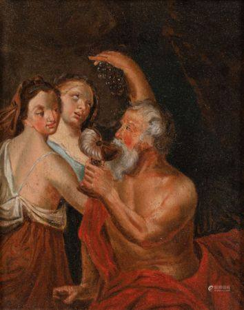 Ecole FRANCAISE vers 1740  - Loth et ses filles  - Suzanne et les vieillards   - [...]