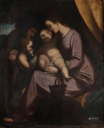 Ecole GENOISE du XVIIème siècle, suiveur de Lucas Cambiaso (1527-1585)  - La Vierge [...]
