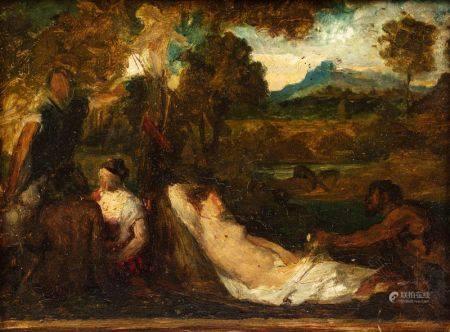 Ecole FRANCAISE de la fin du XIXème siècle  - La Vénus du Pardo, Jupiter et [...]