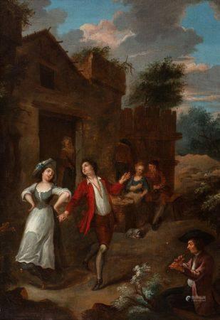 Josef Frans NOLLEKENS   - (Anvers 1702 – Soho 1748)  - La danse paysanne   - Les [...]